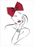 Plakat Red bow