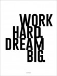 Plakat Work hard. Dream big.
