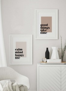 Idealna para Calm mind happy life + Good things take time