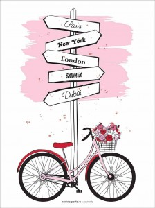 Plakat Bike Travel