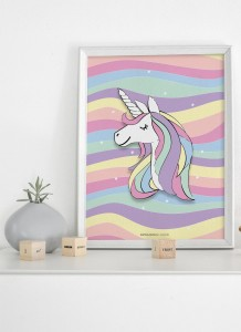 Plakat Rainbow unicorn