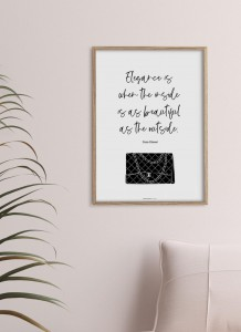 Plakat Coco Chanel quote II