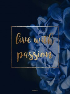 Plakat Live with passion