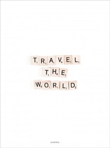 Plakat Travel the world