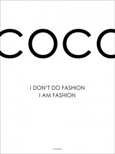 Plakat Coco fashion