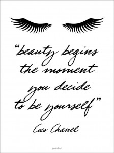Plakat Beauty - Coco Chanel