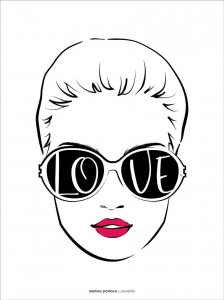Plakat Love sunglasses