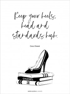 Plakat Coco Chanel quote I