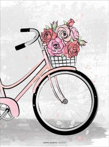 Plakat Flower bike trip