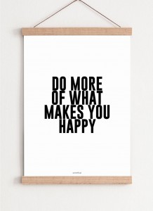 Plakat What makes you happy