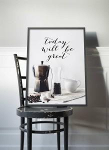 Retro Plakaty Do Kuchni Owoce I Warzywa Kawa Paproć Zioła