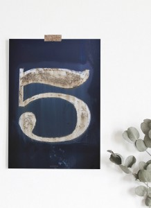 Plakat Lucky number 5