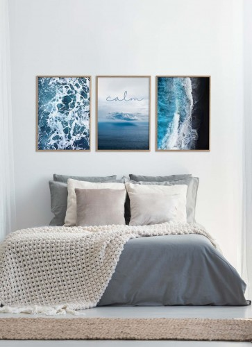 Perfekcyjne Trio Sea vibes + Calm + Black and blue
