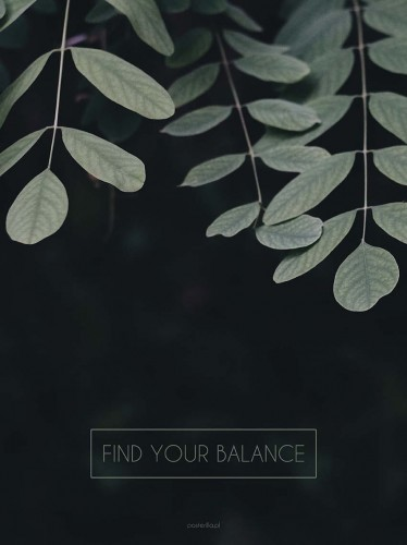 Plakat Find your balance
