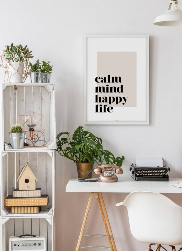 Plakat Calm mind happy life
