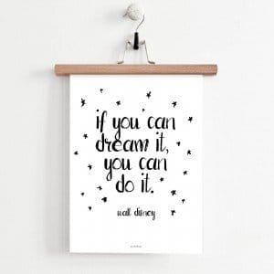 Plakat motywacyjny: You can do it