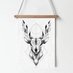 Plakat Jeleń Geometryczny